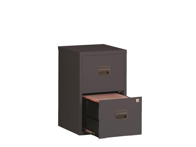 classeur monobloc mt anthracite 2 tiroirs. Black Bedroom Furniture Sets. Home Design Ideas