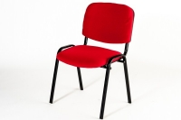 CHAISE VISITEUR ISO OFFICE PRO ROUGE