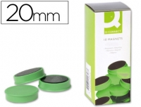10 AIMANTS RONDS VERTS ø 20 MM