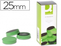 10 AIMANTS RONDS VERTS ø 25 MM