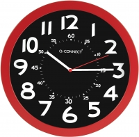 HORLOGE Q-CONNECT - ROUGE