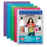 PROTÈGE-DOCUMENTS PERSONNALISABLE 120 VUES POLYVISION COLORIS ASSORTIS OXFORD