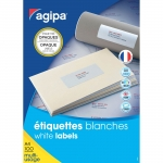 ÉTIQUETTES MULTI-USAGES OPAQUES BLANCHES 199.6 X 289.1 MM AGIPA