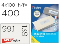ÉTIQUETTES MULTI-USAGES OPAQUES BLANCHES 99.1 X 139 MM - AGIPA