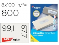 ÉTIQUETTES MULTI-USAGES OPAQUES BLANCHES 99.1 X 67,7 MM - AGIPA