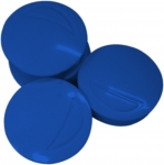 4 AIMANTS RONDS BLEUS Ø 30/32 MM