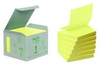RECHARGES Z-NOTES - PAPIER RECYCLÉ JAUNE - 76 x 76 mm