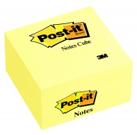 BLOC-CUBE POST-IT - NÉON JAUNE - 76 x 76 mm