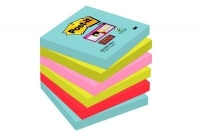 BLOC CUBE POST-IT STICKY MIAMI 76X76MM P/6