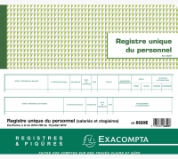 PIQÛRE EXACOMPTA - REGISTRE UNIQUE DU PERSONNEL - 6620E