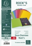LOT DE 100 SOUS-CHEMISES ROCK'S EXACOMPTA ASSORTIS