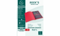 LOT DE 100 CHEMISES DOSSIERS ROCK'S EXACOMPTA ROUGE