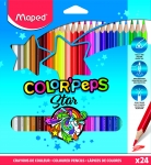 ÉTUI DE 24 CRAYONS MAPED COLORPEP'S - Ø 2,9 mm