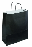SAC KRAFT A POIGNEES TORSADEES - 35X40X14 NOIR - LOT DE 50