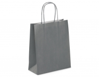 SAC KRAFT A POIGNEES TORSADEES - 18X22X8 GRIS - LOT DE 50