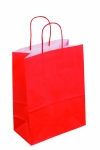 SAC KRAFT A POIGNEES TORSADEES - 18X22X8 ROUGE - LOT DE 50