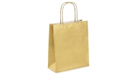 SAC KRAFT A POIGNEES TORSADEES - 18X22X8 OR - LOT DE 50