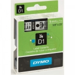 RUBAN DYMO D1 - 40910 - NOIR SUR TRANSPARENT - 9 mm