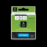 RUBAN DYMO D1 - 43610 - NOIR SUR TRANSPARENT - 6 mm
