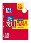 FEUILLES SIMPLES - OXFORD - 90G PERFOREES 5X5 - 300P