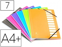 TRIEUR EN CARTE AVEC CASES EXTENDOS 7 COMPARTIMENTS COLORIS ASSORTIS