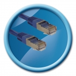 CABLE RJ45 M/M STP CAT. 5E DROIT 1M