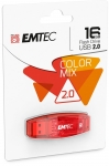 CLE USB 2.0 - EMTEC - C410 COLOR MIX 16GO ROUGE