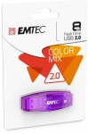 CLE USB 2.0 - EMTEC - C410 COLOR MIX 8GO VIOLET