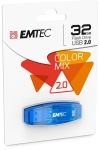 CLE USB 2.0 - EMTEC - C410 COLOR MIX 32GO BLEU