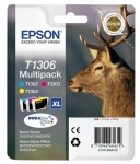 PACK 3 CARTOUCHES EPSON T1306 POUR STYLUS OFFICE ET WORKFORCE 3000