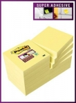 BLOC-NOTES POST IT SUPER STICKY JAUNE PASTEL 47 X 47 MM