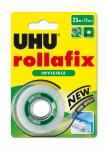 RUBAN ADHESIF INVISIBLE - ROLLAFIX AVEC DEVIDOIR 25MX19MM