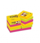 LOT DE 12 BLOC-NOTES POST-IT SUPER STICKY RIO 47,6 X 47,6 MM