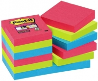 LOT DE 12 BLOCS-NOTES POST-IT SUPER STICKY BORA BORA 47,6 X 47,6MM