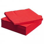 LOT DE 100 SERVIETTES ROUGES